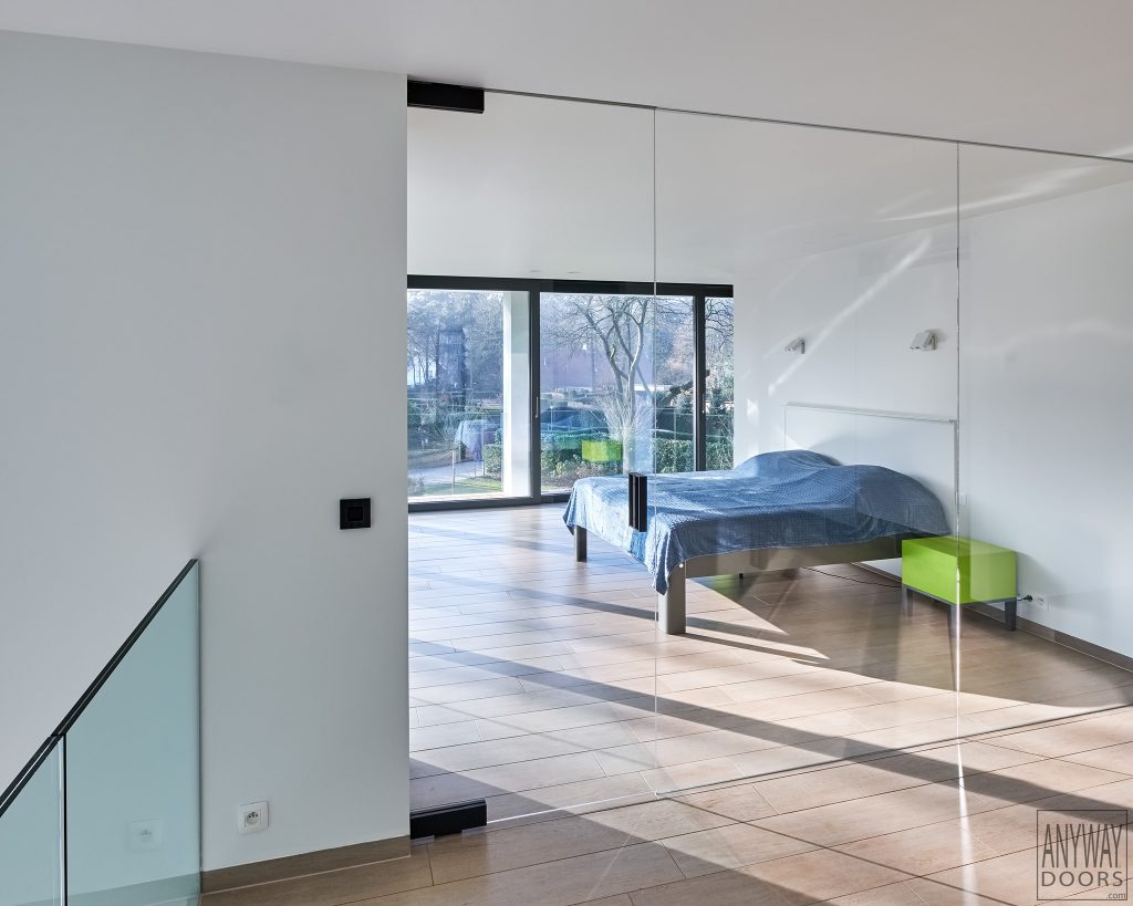 Portevitreesurpivotnoir Designhome - Porte vitrée sur pivot